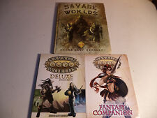 Great White Games SAVAGE WORLDS RPG BOOK LOT Core Rules Deluxe Fantasy Companion