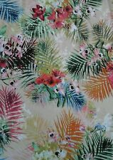 "Leafy Flower Floral Nature  JERSEY LYCRA Stretch Fabric Material 60""Width"