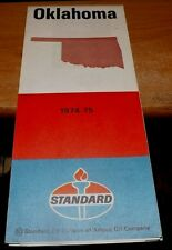 Vintage 1974 - 75 Standard Oil Co. Tempo Designs OKLAHOMA Road Map
