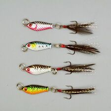 4pcs Lot Lead Fish Lures Fishing Lure Feather Hooks Crank Bait Tackle 2.5cm/6.4g
