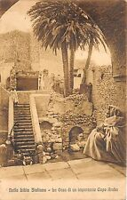 B84815 nella libia italiana la casa di un capo arabo types folklore  libia lybia