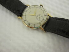 14K LeCoultre Vintage Mid Size Man's Wrist Watch 1960's- SOLID GOLD- NO RESERVE