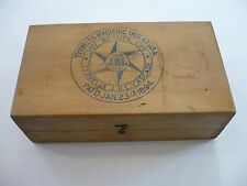 Antique 1894 Tyrrell's J.B.L. Cascade Flushing Colan Wood Box Hygenic Inst NYC