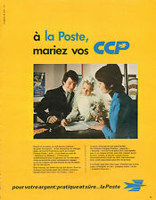 Publicité Advertising 1973  LA POSTE  Banque
