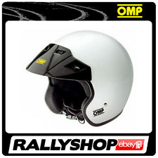 OMP STAR HELMET,size L (59-60 cm) White OPEN, CHEAP DELIVERY! (Ece,Track Day)