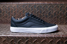 Vans Old Skool Reissue CA Coated Twill Black Men's Skate Shoes Size 12