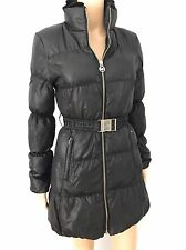 Women's Michael Michael Kors Black Goose Down Mink Collar Jacket Coat SZ XS $600