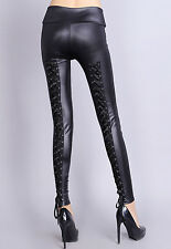 Boldgal Black Jeggings  Stretchable Ladies Leather Slim Jeans Women Leggings