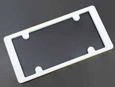 Illusion White Gold Plastic License Plate Frame Hides Screws