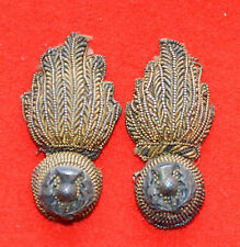 British Army. Royal Scots Fusiliers Officer's Collar Badges