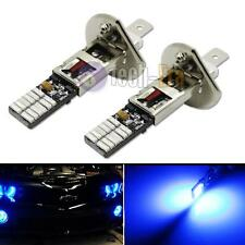 2x Ultra Blue 24-SMD-4014 H1 LED Replacement Bulbs For Fog Lights Driving DRL