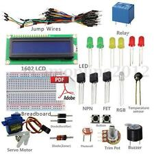 UNO R3 Starter Kit Diode LED Breadboard Resistor Relay 1602 LCD para Arduino