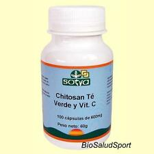CHITOSANO CON TE VERDE Y VIT C  600 MG.100 CAPSULE SOTYA / DIETE   SO3241