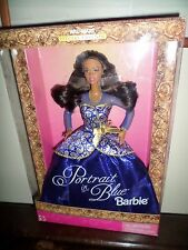 BARBIE PORTRAIT in BLUE 1997 AA AFRO AMERICAN  WAL MART NRFB SPECIAL EDITION