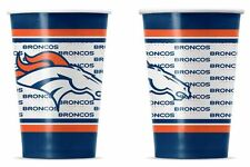 Denver Broncos Disposable Paper Cups - 20 Pack [NEW] NFL Party Tailgate