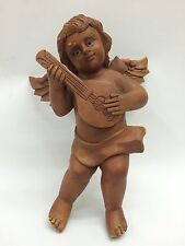 CARVED WOOD HANGING ANGEL