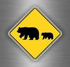 Sticker car moto biker bomb jdm decal bumper tuning bear grizzly warning sign
