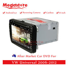 """8"""" Car DVD GPS Navi For Volkswagen VW Universal 2006-2012 Quad Core Android 5.1"""