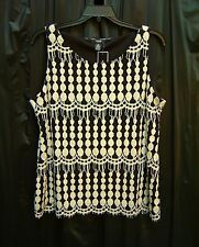 ALFANI ALL OVER LACE OVERLAY STRETCH TOP SHELL TANK CAMI~1X~0X~XL~16~18~20W NEW