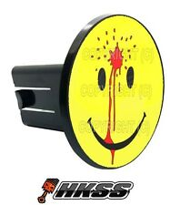 Universal Class 2  3 Tow Hitch Receiver Insert Cover Plug - SHOT SMILEY YR Z3U
