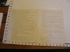 Vintage Puppeteer Biographical Paper: MARY & JOE OWENS, SIGNED BY JOE OWENS