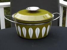 Norwegian Norway Cathrineholm Green Lotus 1.75 Qt Covered Pot Grete Kittelsen