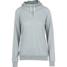 Icebreaker Women Sphere LS Hood Hoody (M) Lunar Heather / Snow