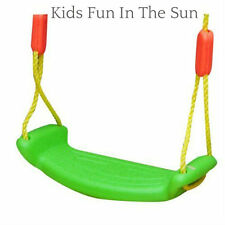 OUTDOOR ROPE SWING SEAT SET KIDS GARDEN TOY CHILDRENS PLASTIC TREE SWINGS