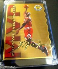 MICHAEL JORDAN 1996-97 Upper Deck DIE-CUT Authenticated MVP Card JUMBO #d /2500