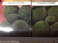 2 pks Fairy garden textured moss rocks decorative supplies - terrariums 22 total