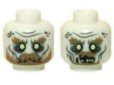 LEGO - Minifig, Head Ghost w/ Glowing Eyes, Moustache & Circles on Temples