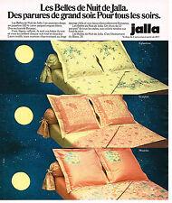 PUBLICITE ADVERTISING 045 1978  JALLA  draps linge de maison BELLES DE NUIT