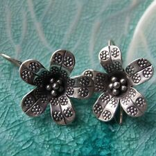 Excellently Wildflowers Thai Earrings Fine Silver from Karen hill tribe classy
