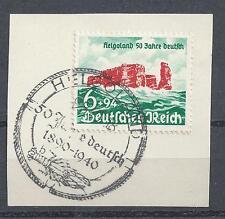 Deut.Reich Mi.-Nr.750 Briefstück mit Helgoland-Stempel!