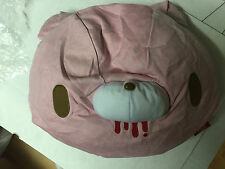 GLOOMY BEAR Plush Doll Face Cushion Pillow Soft Feeling Big size GREY PLUSH