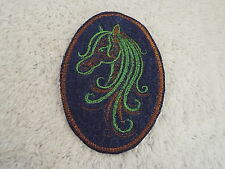 "Brown Green HORSE 3-3/4"" Embroidery Iron-on Custom Patch (E4)"
