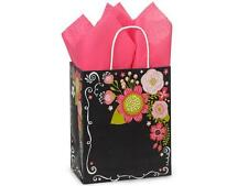 250 Chalkboard Flower Paper Shopping Bags Gift Wholesale Retail Merchandise Bulk