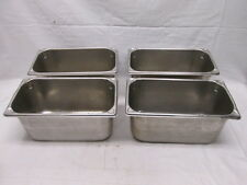 """(4) 1/3 Size Food Pan 6"""" Deep Stainless Restaurant Hotel Steam Table"""