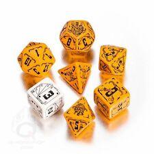 Q-Workshop Dead Lands Dice Set (7 Polyhedral) Orange & Black SDEA17