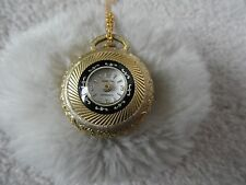 Vintage Swiss Made Sperjna Wind Up Necklace Pendant Watch