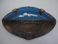 Old Souvenir Metal Tray Dish NEW JERSEY TURNPIKE NJ Made in Japan 1960's