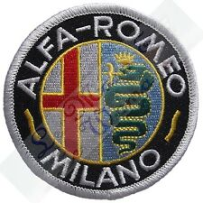 Alfa Romeo - Milano Black Embroidered Cloth Emblem Badge Patch