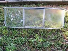 VINTAGE RUNABOUT BOAT WINDSHIELD REAL GLASS 60'S ERA?