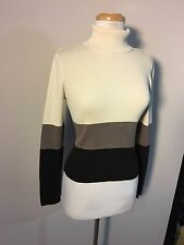 The Limited Woman's Multi Color Cord Knit Turtleneck Sweater Size Medium