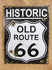 Old Route 66 Weathered Look NEW Tin Metal Sign Decor