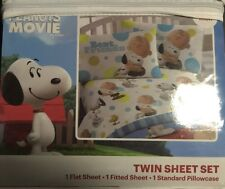 The Peanuts Movie 3 Piece Twin Sheet Set NEW