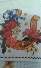 Lucky shoe est un point de croix imprimé sur toile pour dmc/marionnette threads