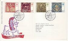 GB Stamps First Day Cover Christmas / Xmas Medieval Embroidery SHS Needle 1976