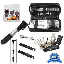 16 in 1 Bicycle Cycling Tire Repair Multi Tool Set Kits With Mini Portable Pump