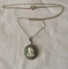 Beautiful Silver Necklace Wedgwood Pendant Classical Figure